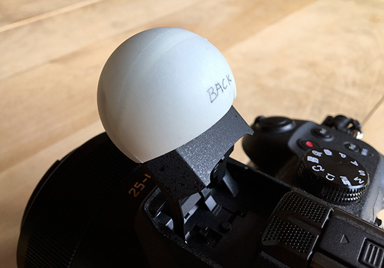 Pingpong Ball Flash Diffuser