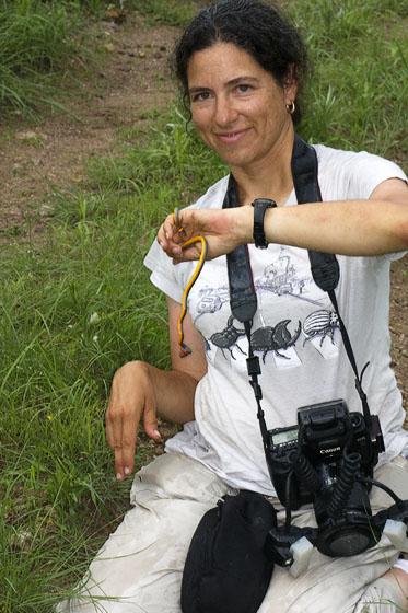Alice Abela with Ring-Necked Snake
