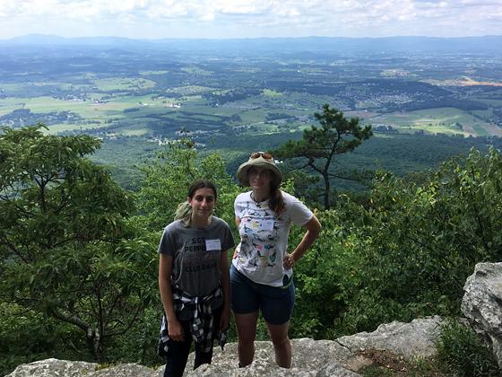 Astrid and Emily at Massanutten Peak - female